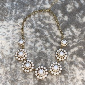 White and gold bauble necklace